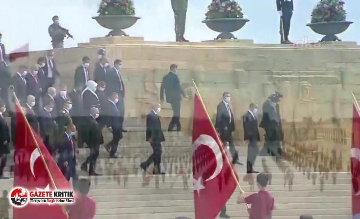 Anıtkabir'de yine 'Erdoğan' sloganı!