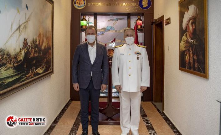 Başkan Seçer'den Tuğamiral Gedik'e Hoşgeldin...