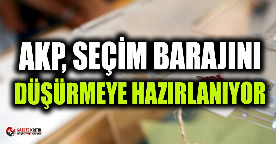 Bomba kulis! 'AKP, yüzde 10'luk seçim barajını...