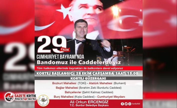 Burdur'da Cumhuriyet'in 97'nci Yıldönümü...