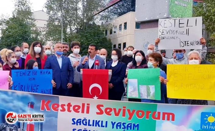 Bursa Kestel'de hava kirliliği isyanı