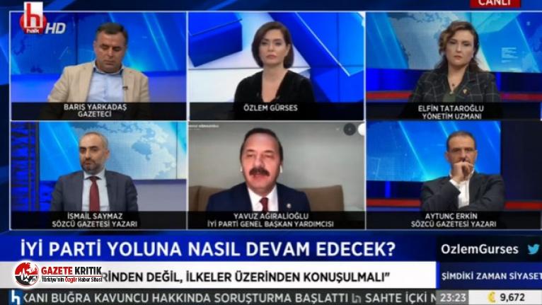 Canlı yayında İYİ Parti'nin cumhurbaşkanı...