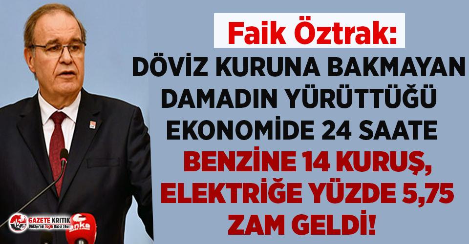 CHP'li Faik Öztrak'tan elektrik zammına...