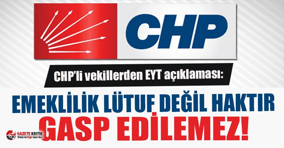 """CHP'li vekiller EYT'lilerle buluştu: """"Emeklilik..."""