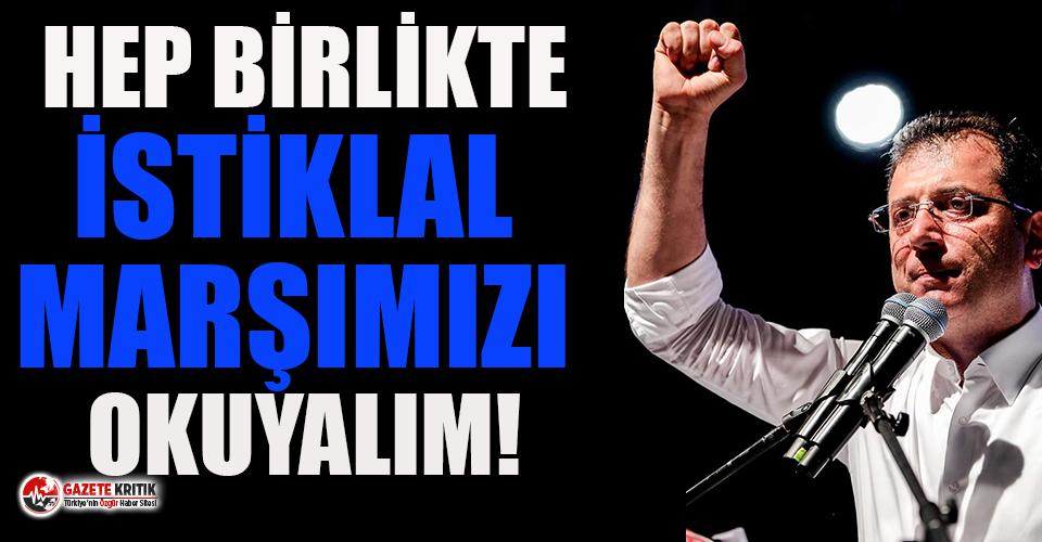 Ekrem İmamoğlu'ndan 29 Ekim çağrısı!