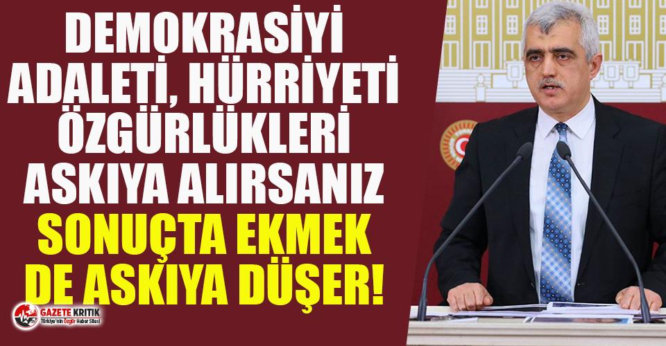 Gergerlioğlu: Demokrasiyi, adaleti, hürriyeti, özgürlükleri...