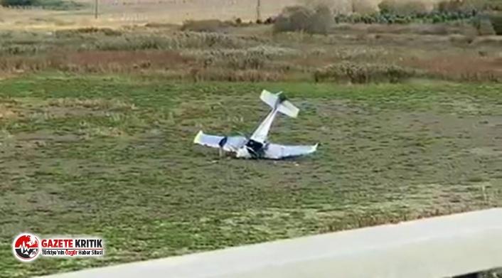 İstanbul Büyükçekmece'de eğitim uçağı...