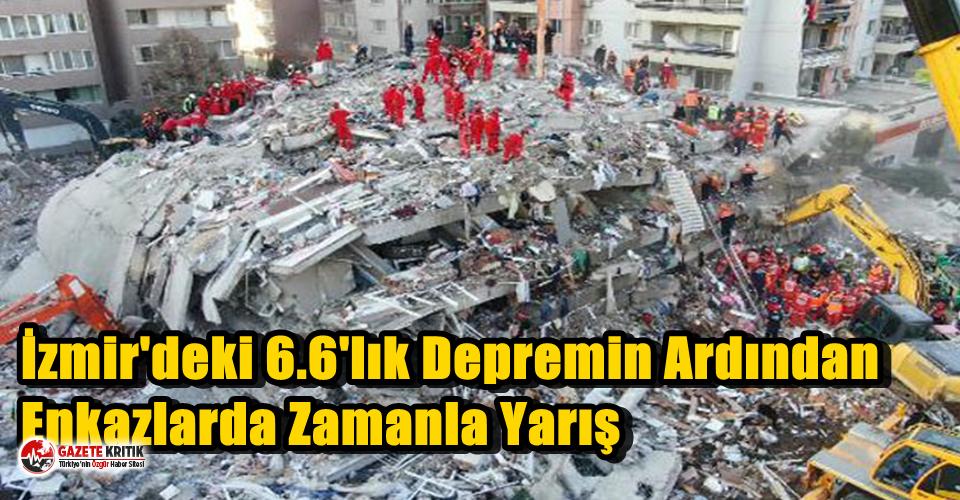 İzmir'deki 6.6'lık Depremin Ardından Enkazlarda Zamanla Yarış