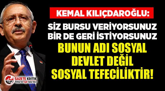 """Kemal Kılıçdaroğlu'ndan """"KYK borçları..."""