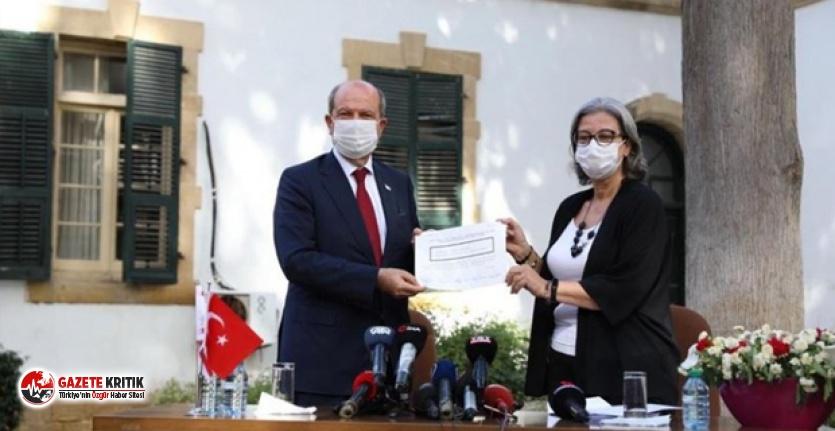 KKTC Cumhurbaşkanı mazbatasını aldı