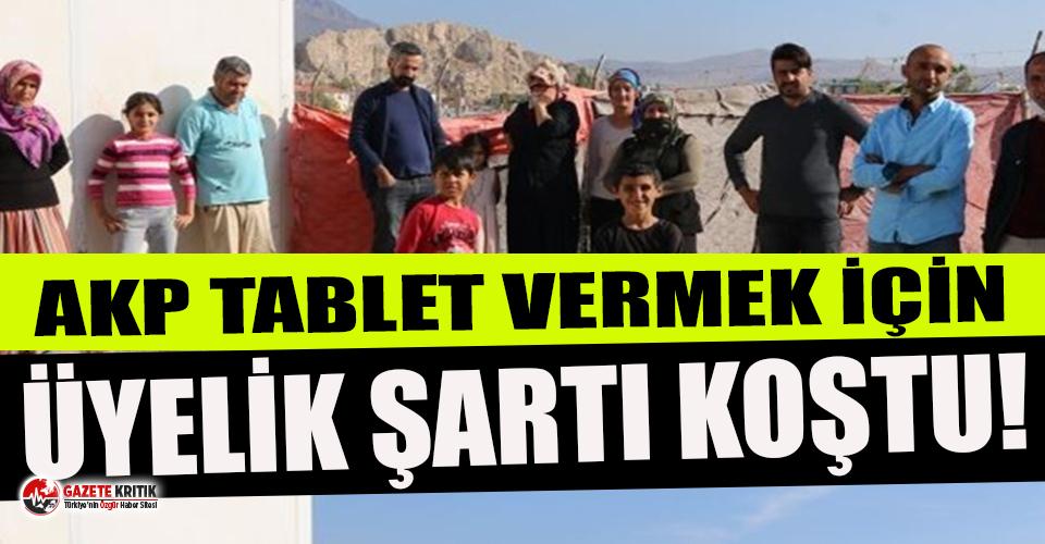 Öğrencilere tablet vermek için velilerine AKP'ye...