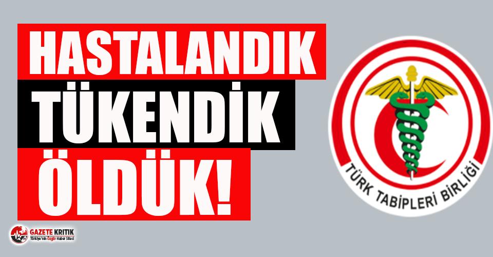 Türk Tabipleri Birliği'nden istifa yasağına...