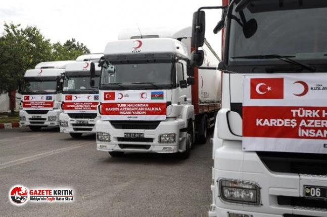Türkiye'den Azerbaycan'a 4 TIR'lık insani...