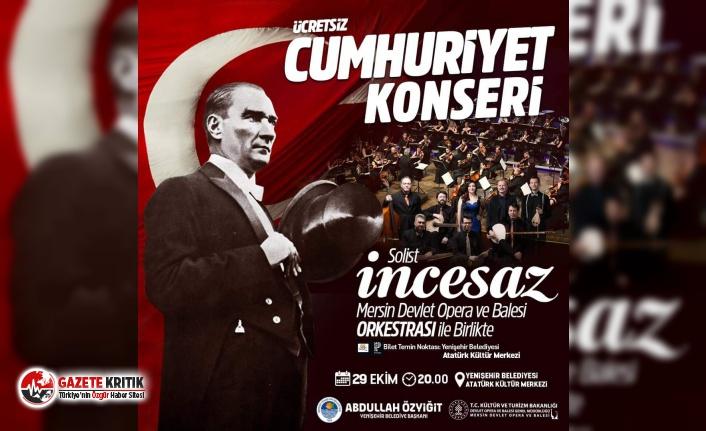 Yenişehir Belediyesi'nden Cumhuriyet Konseri