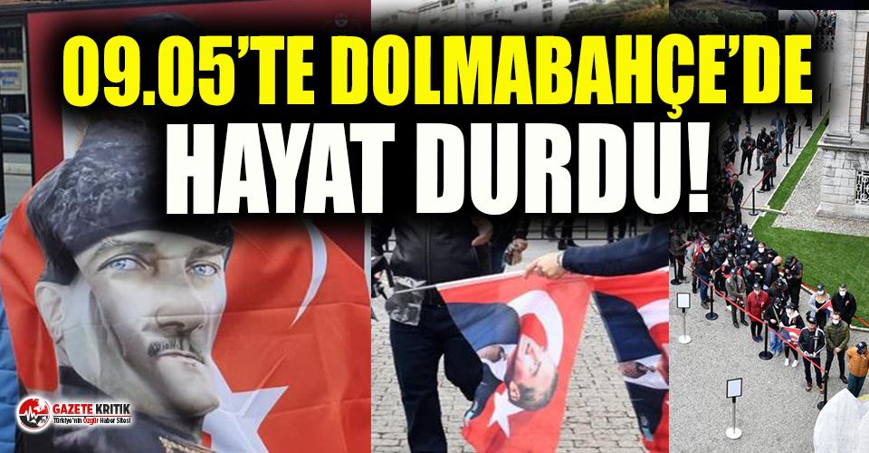 09.05'te Dolmabahçe'de hayat durdu!