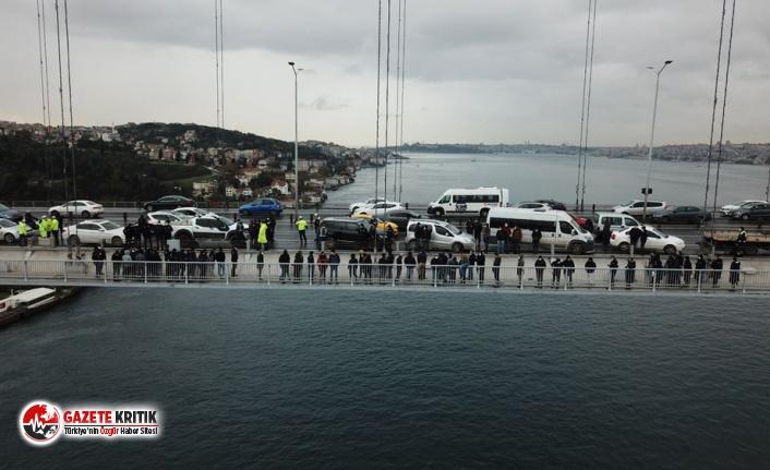 15 Temmuz Şehitler Köprüsü'nde 2 işçi intihara...