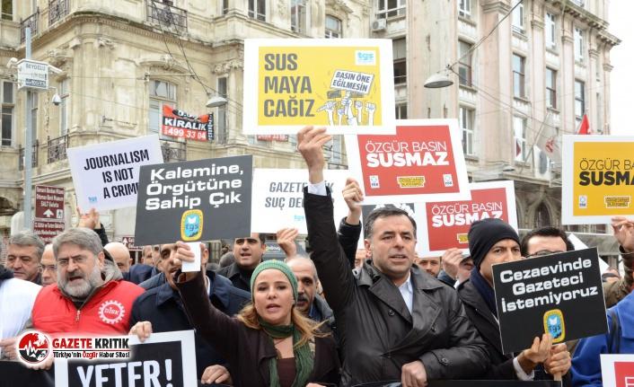 '6 gazeteci gözaltına alındı, 41 gazeteci hakim karşısına çıktı'