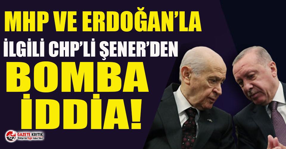 Abdüllatif Şener'den MHP ve Tayyip Erdoğan'la ilgili çok konuşulacak iddia