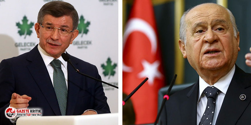 Ahmet Davutoğlu'ndan Devlet Bahçeli'ye...
