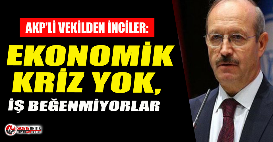 AKP'li vekil Sorgun: Ekonomik kriz yok, iş beğenmiyorlar