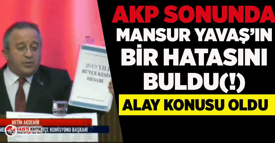 AKP sonunda Mansur Yavaş'ın  bir hatasını buldu