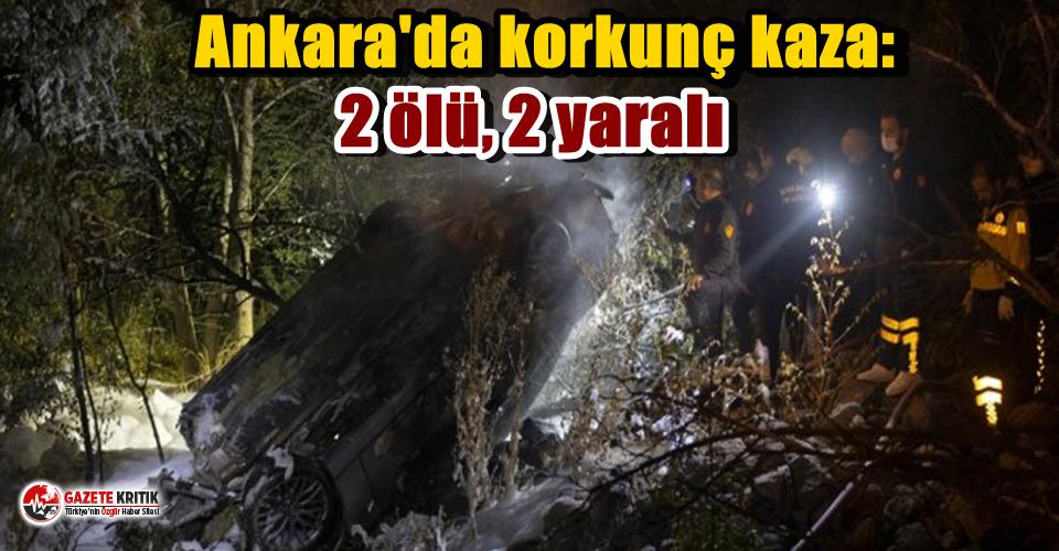 Ankara'da korkunç kaza: 2 ölü, 2 yaralı