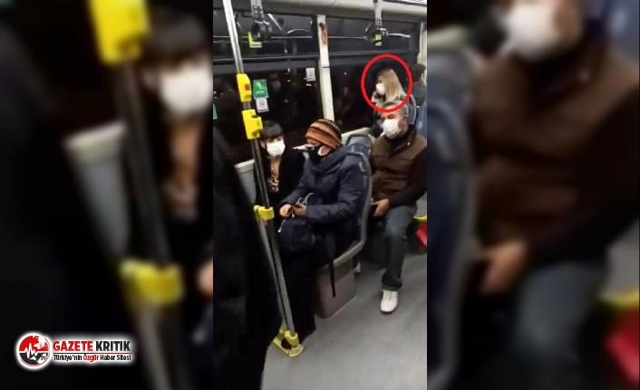 Belediye otobüsünde koronavirüs paniği! Telefonda...