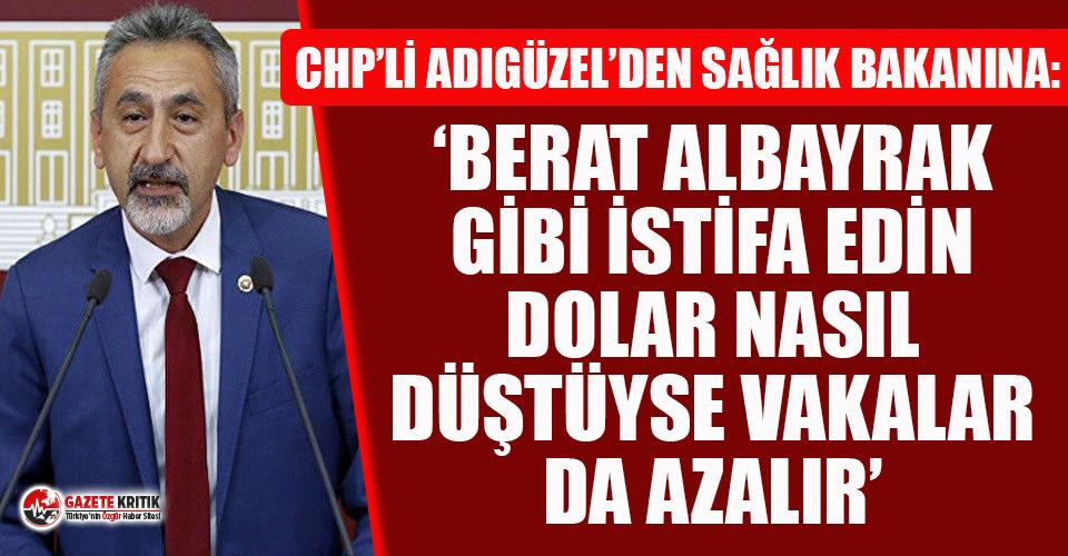 CHP'li Adıgüzel Sağlık Bakanı Fahrettin...