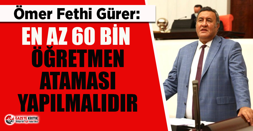 CHP'li Gürer: Bakan Selçuk PİKTES öğretmenlerine kapıyı kapattı