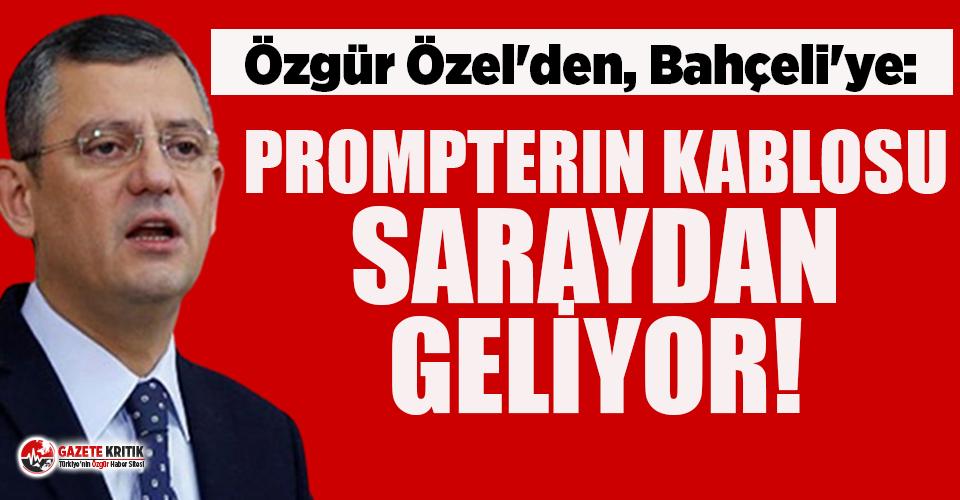 CHP'li Özel: Maden kazasında madencileri suçladıkları...