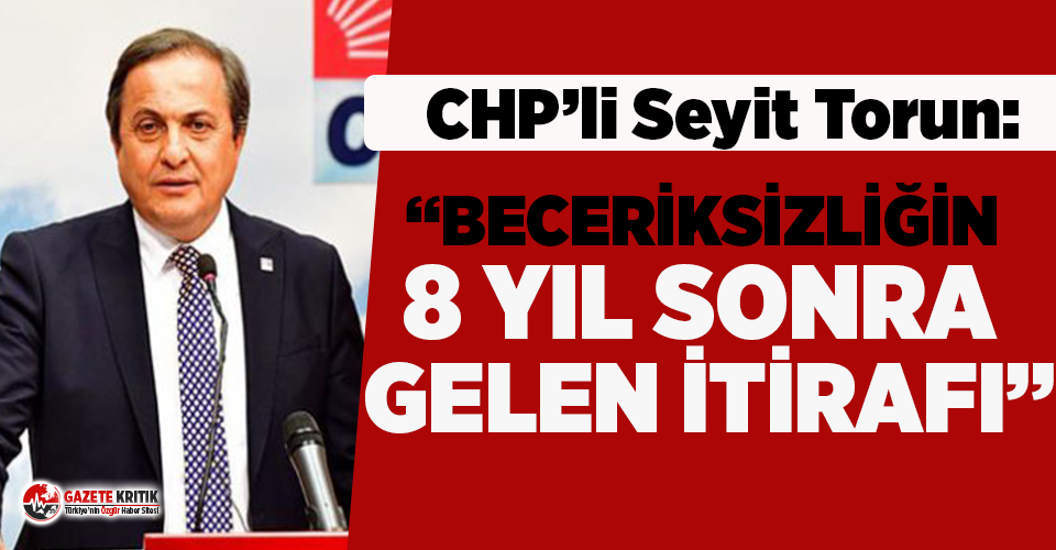 CHP'li Seyit Torun'dan Bakan Pakdemirli'ye...