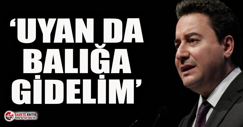 DEVA Partisi Genel Başkanı Babacan'dan Erdoğan'a...