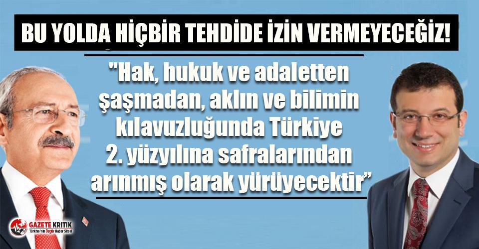 Ekrem İmamoğlu'ndan Kılıçdaroğlu'nu...