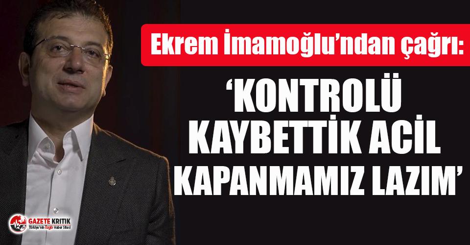 Ekrem İmamoğlu'ndan İstanbul için flaş kapanma...