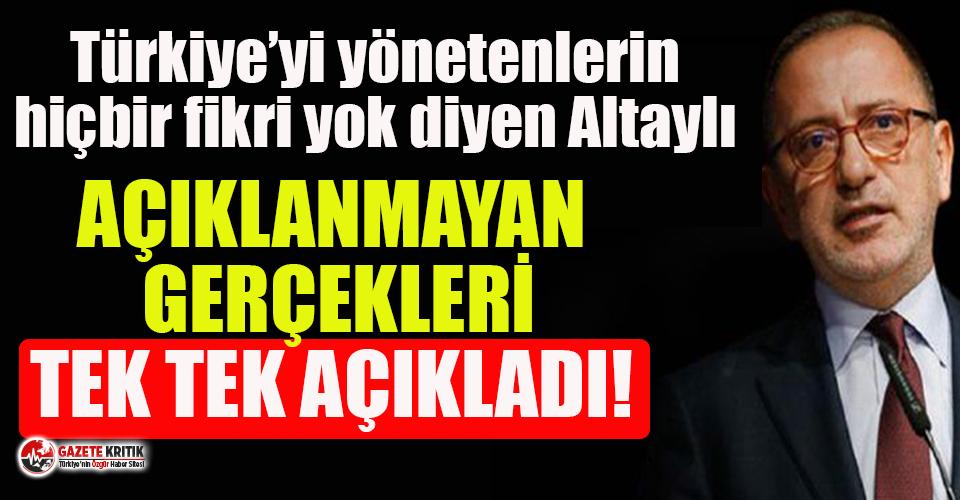 Fatih Altaylı: 'Size açıklanmayan gerçekleri...