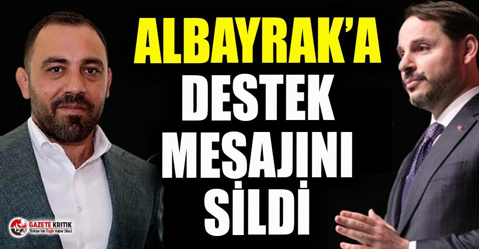 Hamza Yerlikaya, Berat Albayrak'a destek mesajını...