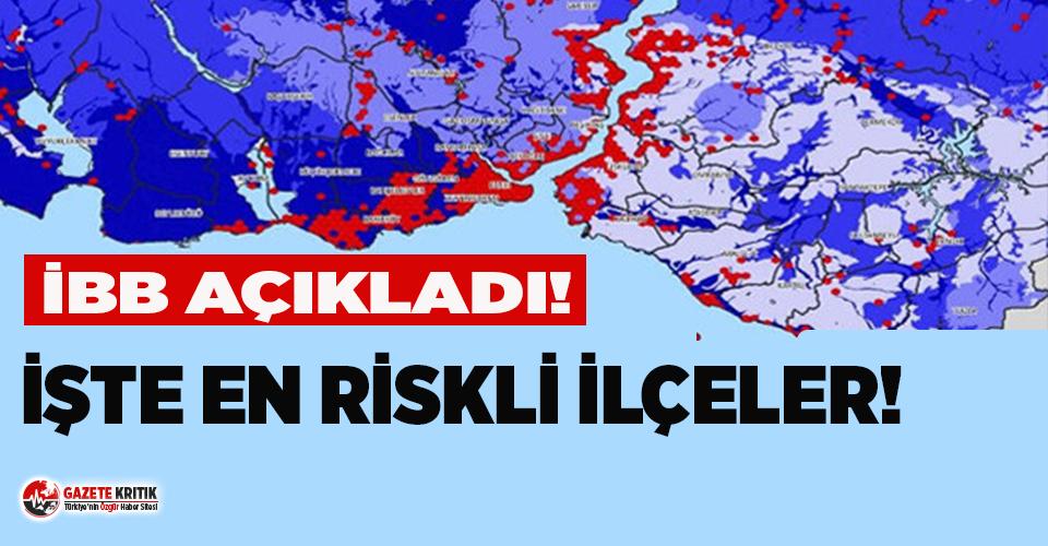 İBB açıkladı; işte İstanbul'un iki yakasındaki en riskli ilçeler