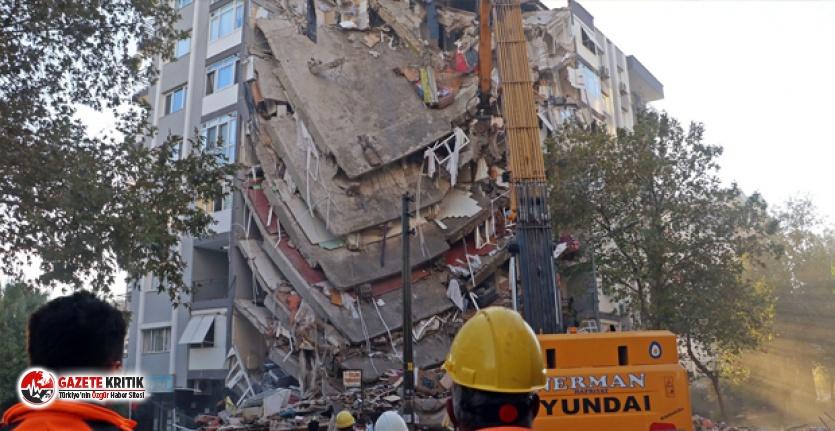 İzmir depreminde yıkılan Karagül Apartmanı'nın...