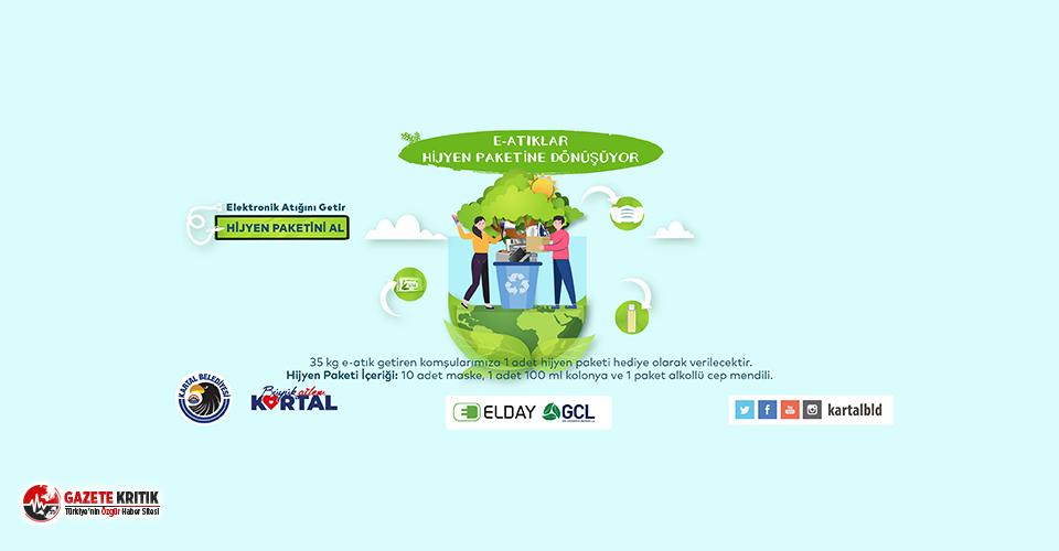 Kartal'da Elektronik Atıklar Hijyen Paketine Dönüşüyor