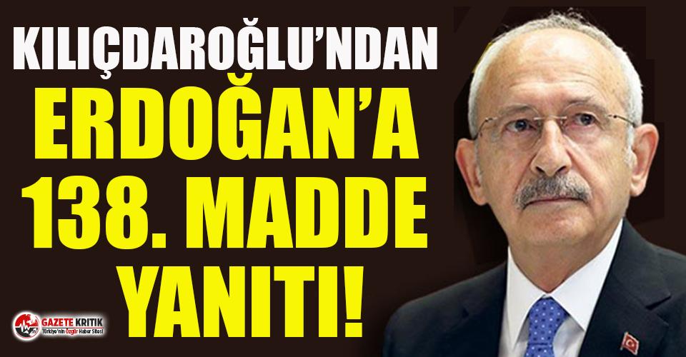 Kılıçdaroğlu'ndan Erdoğan'a 138. madde...