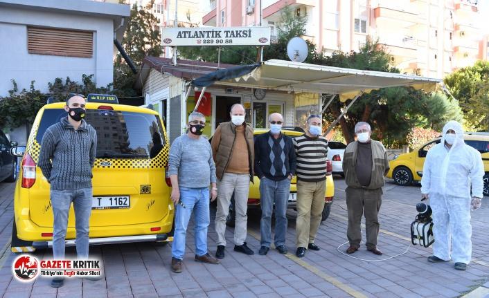 Konya'da taksi durakları, parklar ve camiler ilaçlanıyor