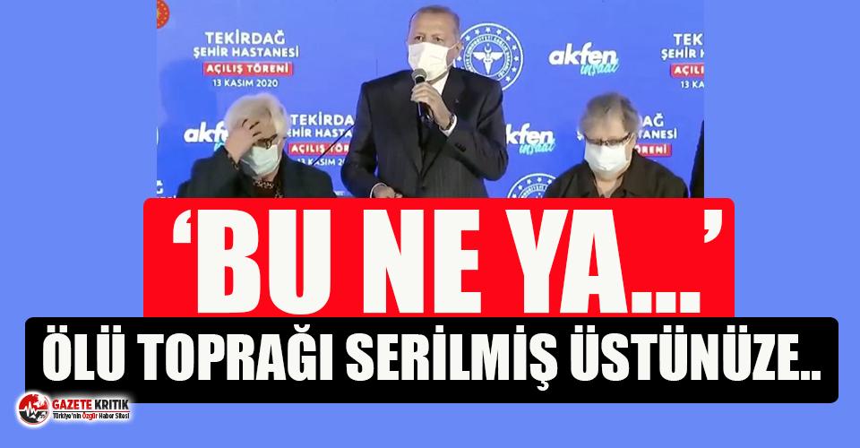 Törende alkışlanmayan Erdoğan salondakilere sitem...