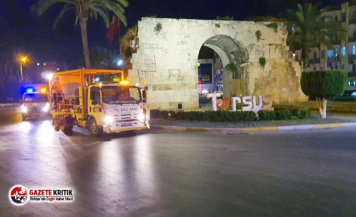 Trafik ve yaya güvenliği için Mersin Büyükşehir'den kapsamlı faaliyet