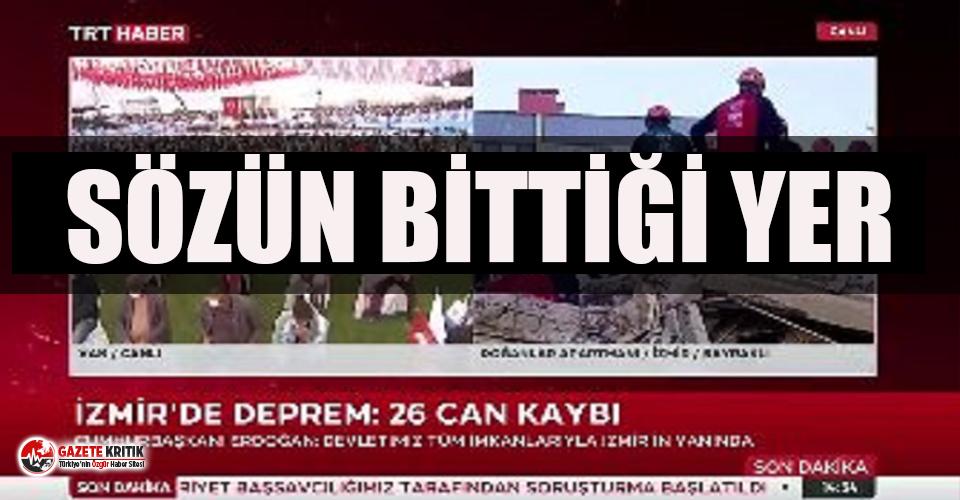 TRT'den tepki çeken yayın: Bir tarafta can...