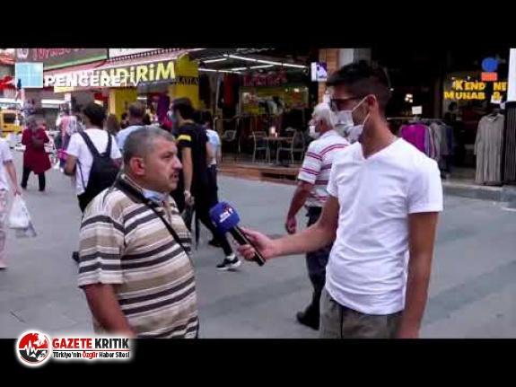 Verdiği sokak röportajında iktidarı eleştiren...