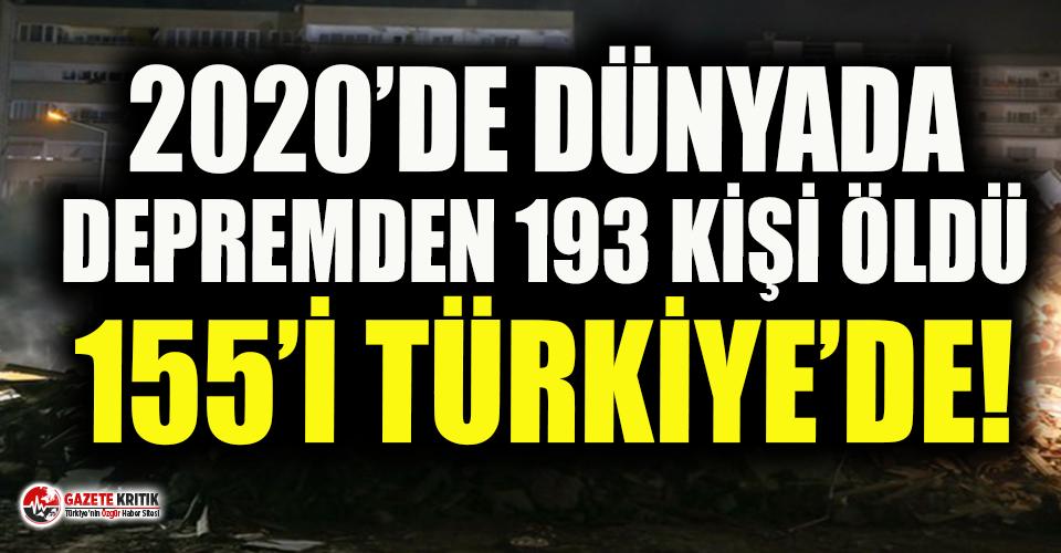 Veriler acı tabloyu gözler önüne serdi: 'İzmir depremi 2020 yılının en ölümcül depremi olarak kayıtlara geçti'