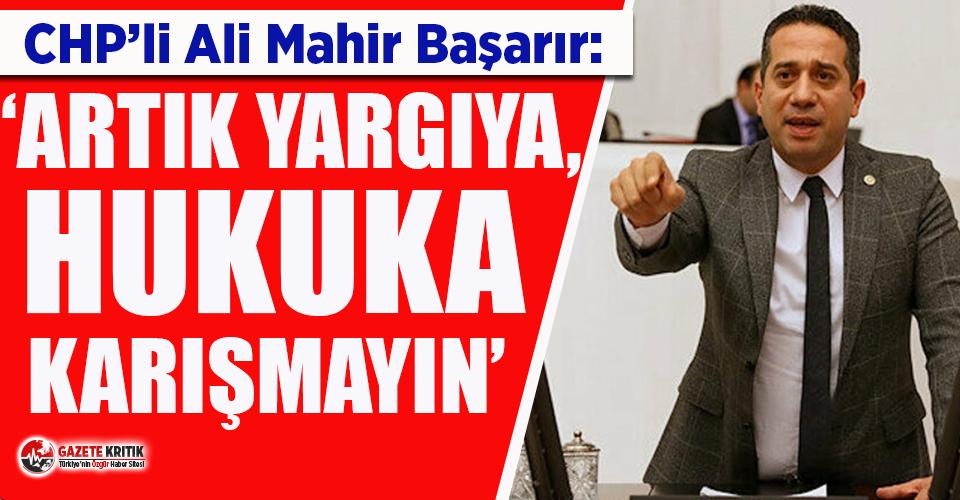Ali Mahir Başarır: 'Cumhurbaşkanı avukatlarının...