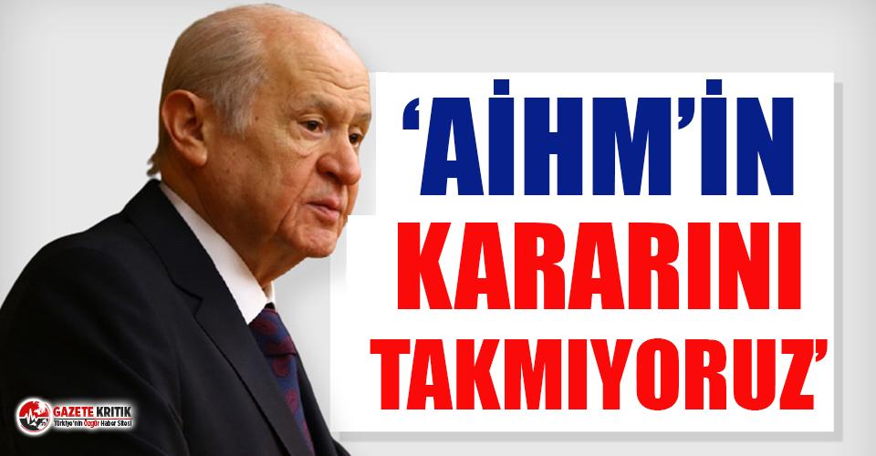 Bahçeli, HDP kapatılsın çağrısını yineledi:...