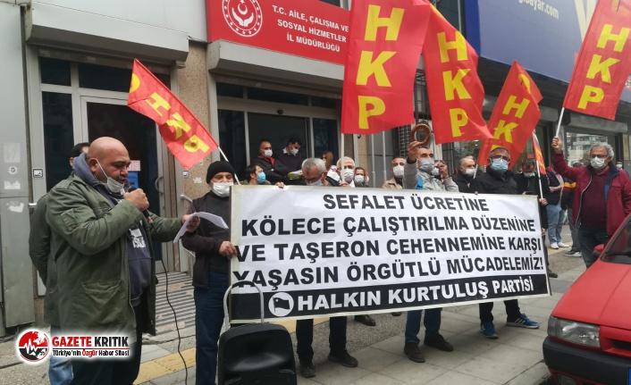 Bakanlık önünde Asgari Ücret protestosu!