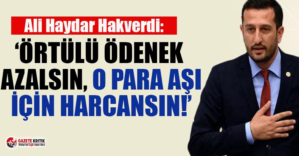 CHP'li Hakverdi'den 'Örtülü ödenek düşsün'...